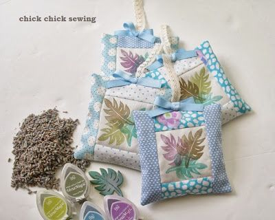 chick chick sewing: Lots of Hawaiian Sachets for my friend  友人にハワイアン気分のサシェを作りました♪
