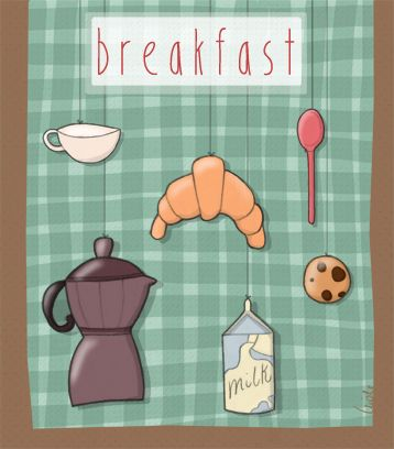 Breakfast by Nicole Curti, via Behance