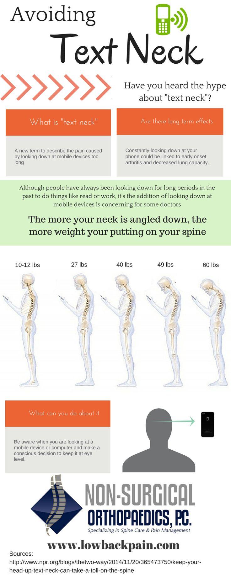 "Avoiding ""text neck"" #neckpain"