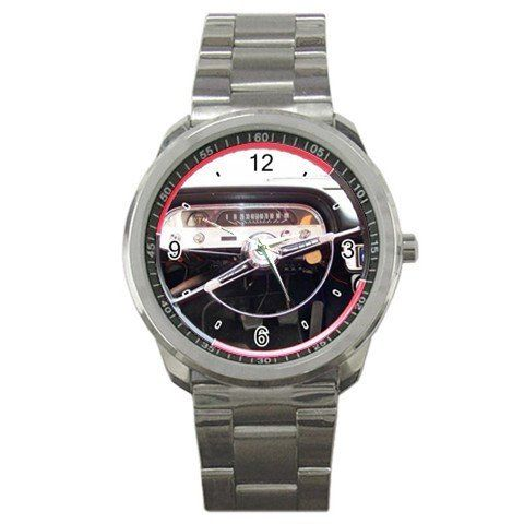 1962 Chevrolet Corvair Steering Wheel Sport Metal Watch