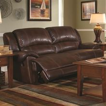 This reclining sofa will accent family rooms and living rooms with a casual style, an affordable price and a relaxed comfort.