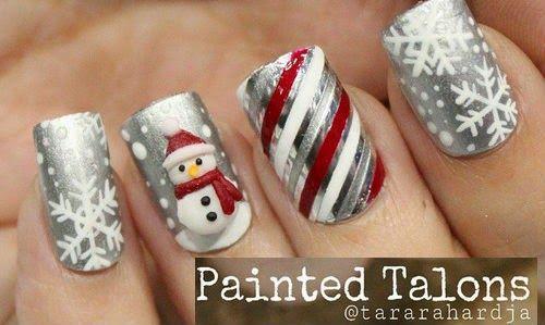 decoracion unas navidad, Christmas nails design                                                                                                                                                                                 Más