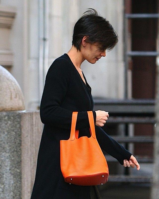 The Many Bags of Katie Holmes, Hermes Picotin...Katie\u0026#39;s bag is ...