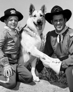 THE ADVENTURES OF RIN TIN TIN - The Adventures of Rin Tin Tin was about an orphaned boy named Rusty and his German Shepherd dog named Rin Tin Tin. They were the only survivors of a raid by Indians in Mesa Grande, Arizona and now live on an army post, Fort Apache.