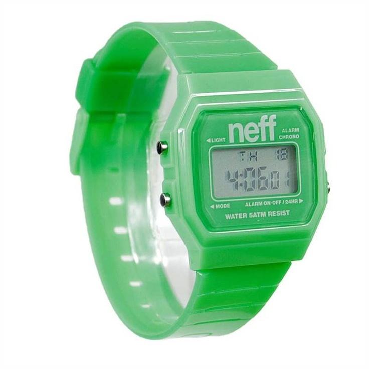 NEFF FLAVA GREEN WATCH    £22.95     Buy Here: http://www.blacksheepstore.co.uk/neff-flava-green-watch.html