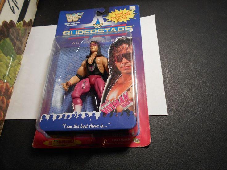 JAKKS BCA WWF SUPERSTARS Series 1 Bret Hitman Hart Figure MOC WWE WCW TNA NWO #JAKKSPacific