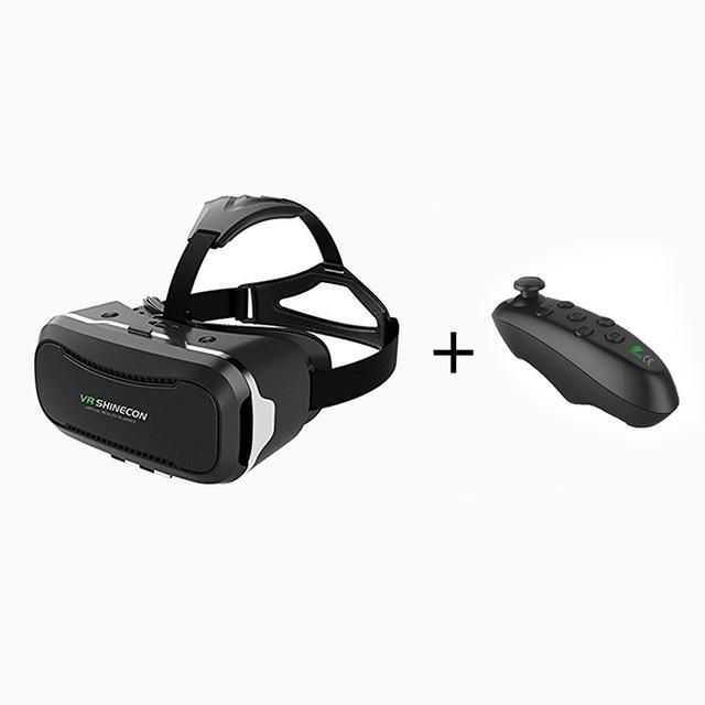 2017 Google cardboard VR BOX VR shinecon ii 2.0 Pro Leather Virtual Reality 3D Glasses VR Headset movie + Original Control Game
