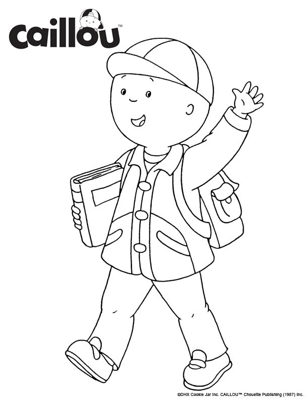 17 Best Images About Caillou Coloring Fun On Pinterest