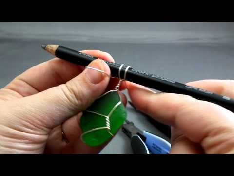 A very simple twist-based wire-wrapping technique perfect for flat, irregular objects such as beach glass (or seaglass). All you need is some round craft wire (20 or 22 ga), flush cutters and a pencil, but chain-nose and round-nose pliers help make it easier!    Accompanying picture-text tutorial available at http://gaylebird.com/2010/11/07/how-to...