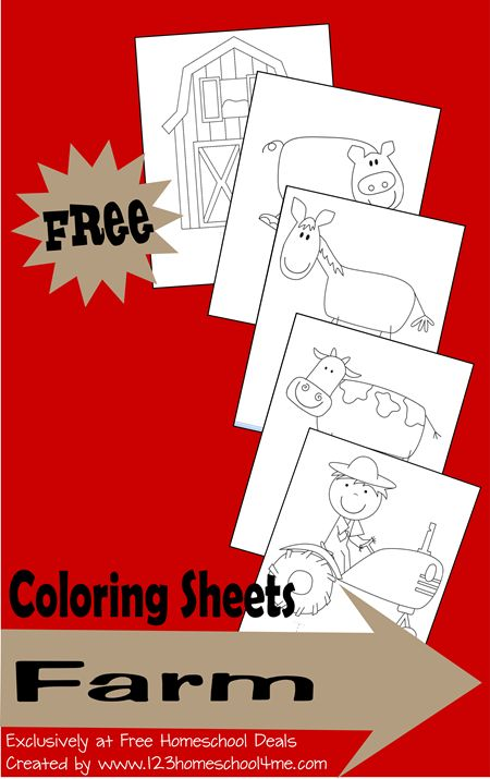 Homeschool Download: Free Farm Coloring #homeschool #preschool