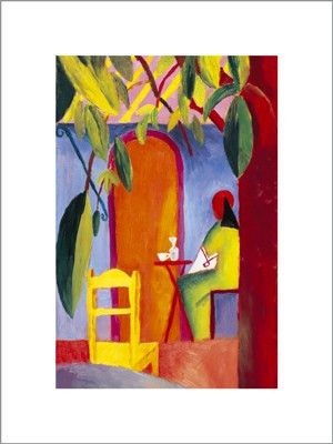 Turkish Cafe August Macke Fine Art Print Poster