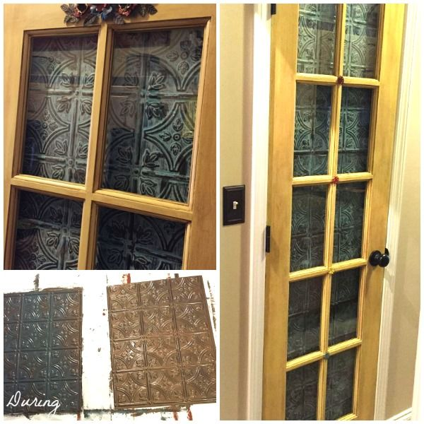 Pantry Door With Metal Effects Patina Hometalk Projects