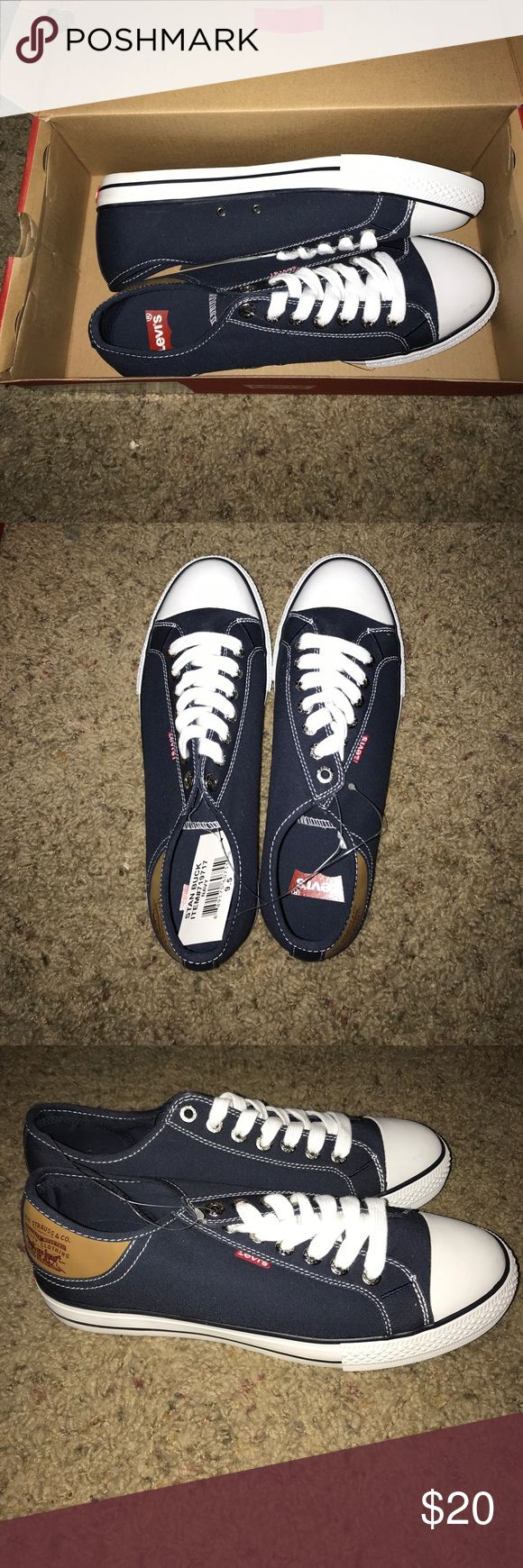 Navy Blue Stan Buck Levi Sneakers Navy blue canvas sneaker. Brand new in box, never worn, never unlaced. Accepting reasonable offers. Levi's Shoes Sneakers