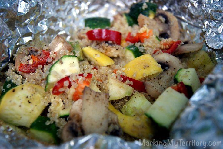 Camp Recipe: Quinoa & Summer Vegetable Stir Fry Foil Packet