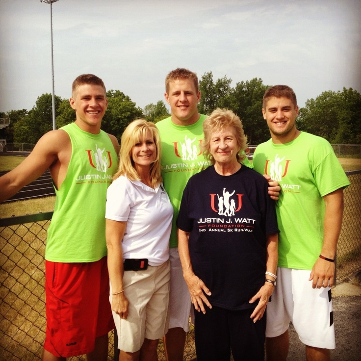 JJ Watt, his brothers, mom and grandma...love it