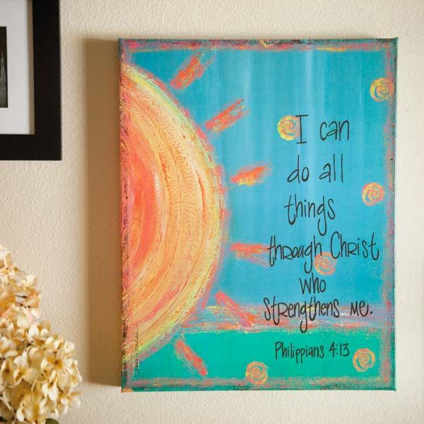 Phil. 4:13 canvas painting