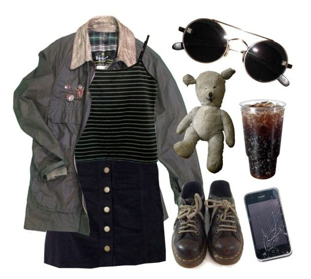 """cross your heart"" by junk-food ❤ liked on Polyvore featuring Vintage and Dr. Martens"