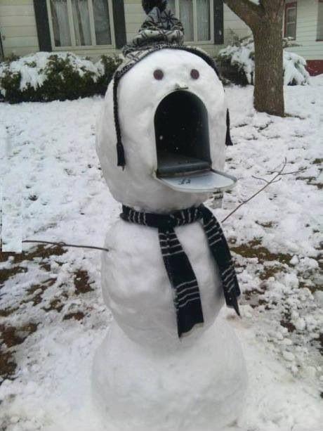 Winter mailbox decor...