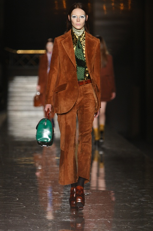 Miu Miu. Only Ms. Prada could make a '70s leisure suit look this cool.