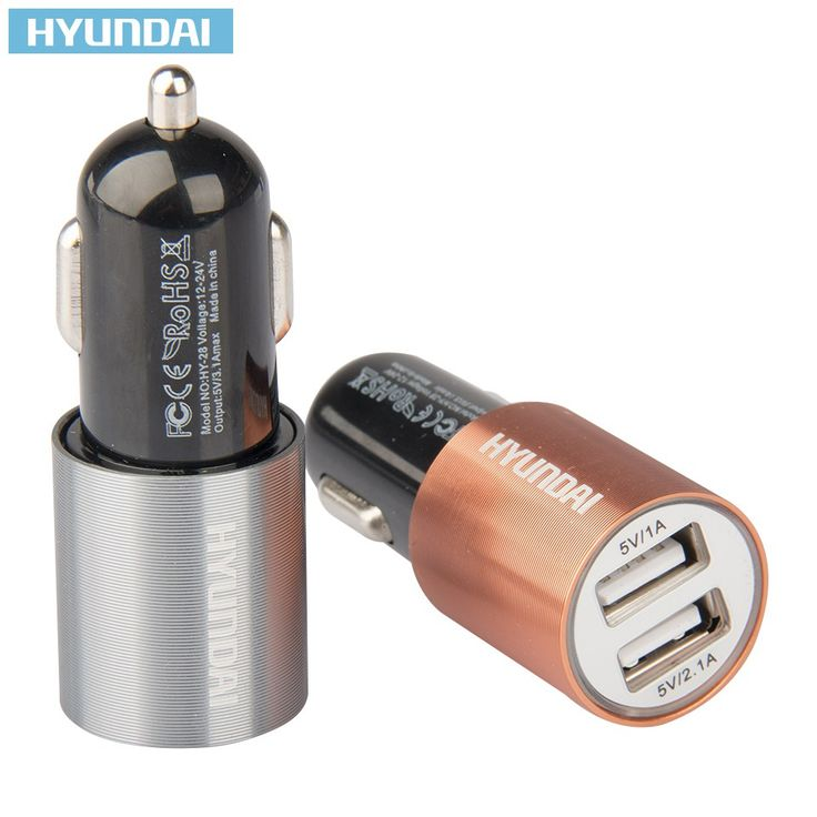 HYUNDAI 5V 3.1A Quick Car Charger Dual USB Port Cigarette Lighter Adapter For iPhone Samsung Pad GPS //Price: $13.98 & FREE Shipping //     #sale
