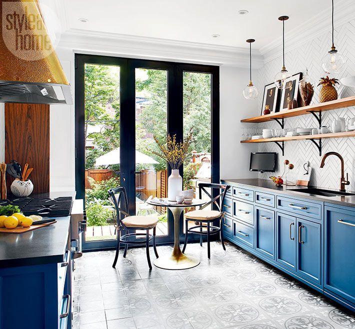 Дизайн кухни в стиле французского бистро