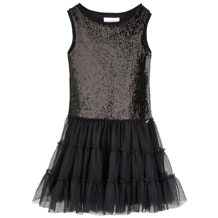 Top: Synthetic jersey Mini skirt: Synthetic tulle Jersey lining Slim fit waistband Puff shape at the bottom Crew neck Ribbed knit trims Layered tulle patches Flared hem Fancy sequins Metal jewel - $ 102