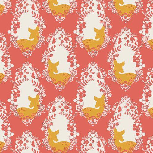 Deer Crib Sheet - Baby Girls Bedding / Woodland Nursery Bedding / Standard or Mini Crib Sheet / Fitted Baby Sheet by Babiease