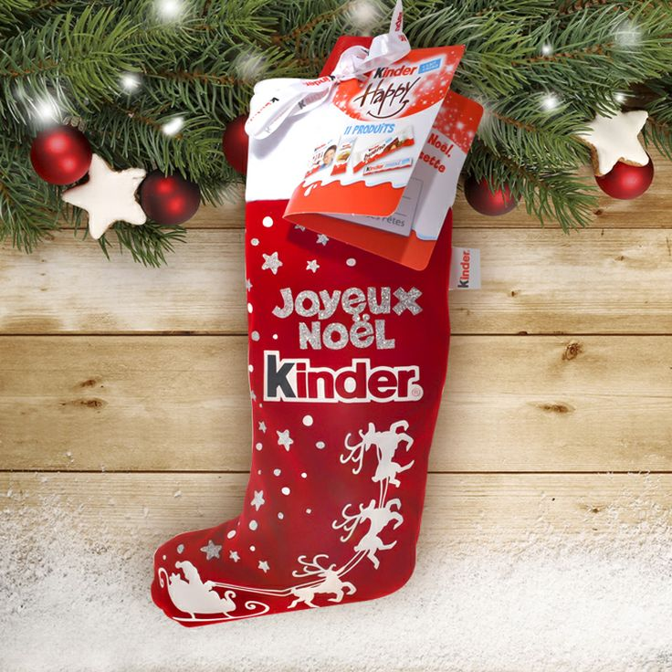 Kinder chaussette - noel 2013 #christmas #xmas #food #chocolate