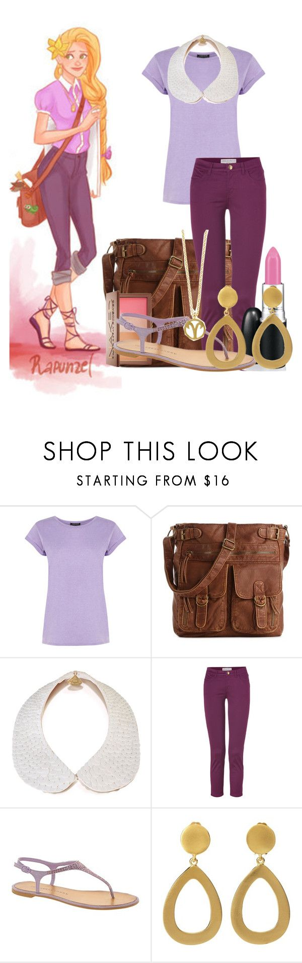 """""""Hipster Rapunzel"""" by thequeenofreading ❤ liked on Polyvore featuring Disney, Warehouse, Mix No. 6, Gemma Lister, Emilio Pucci, Urban Decay, Chinese Laundry and Kenneth Jay Lane"""