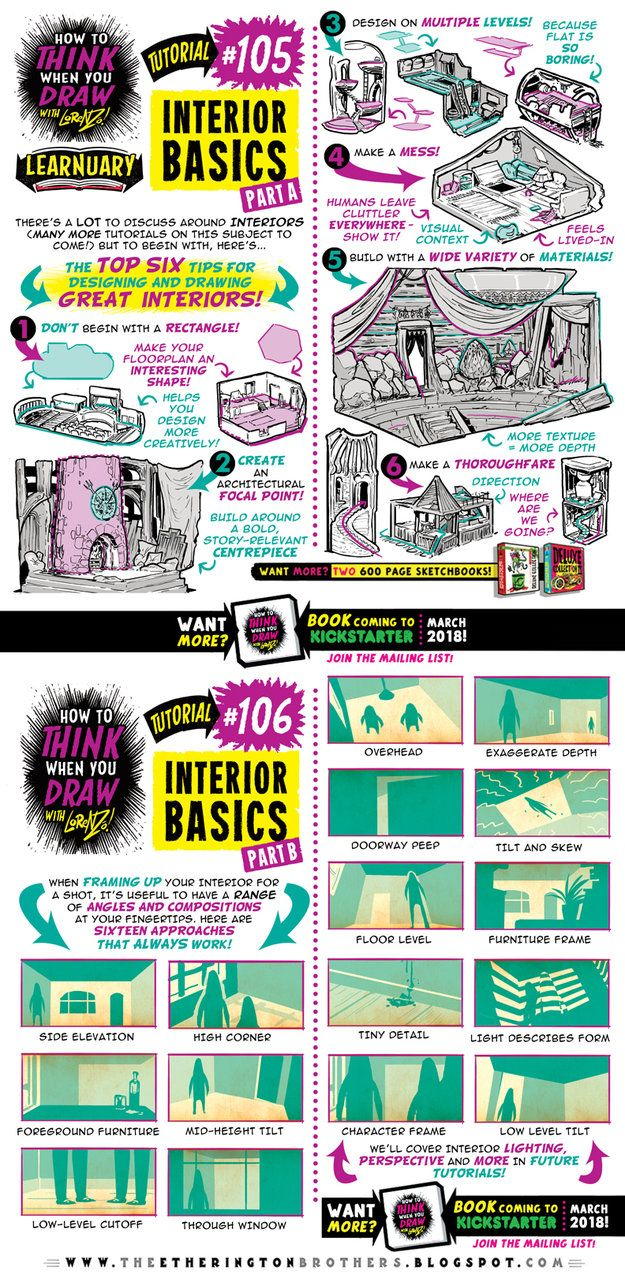 How to draw INTERIORS tutorial by STUDIOBLINKTWICE.deviantart.com on @DeviantArt