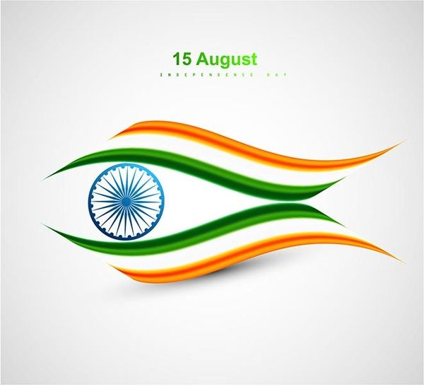 creative indian flag made fish august india independence day vector template