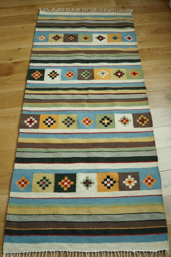 Handmade Natural Romanian Rug carpet kilim tapestry  - hand woven vegetable dyes…