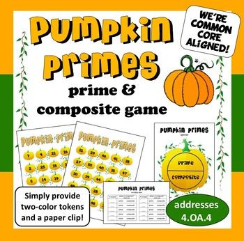 Build students' understanding of prime & composite numbers with this simple Bingo-style game that provides for differentiation based on student need. $