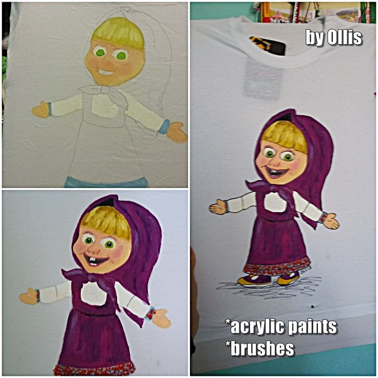 masha, painting, masha and the bear