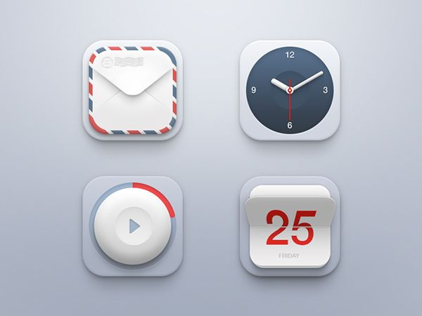 Mini Icon Set by Piotr Kwiatkowski, via Behance