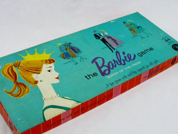 Barbie Prom Queen board game. Wanted this game for Christmas for several years.  Santa never brought it.