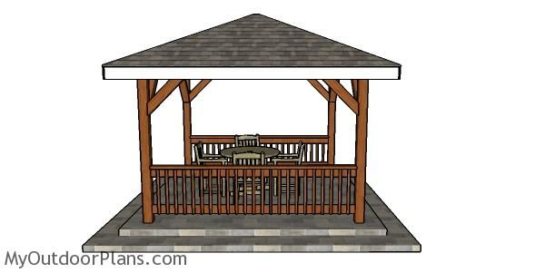 12x12 Hip Roof For Gazebo Diy Plans Myoutdoorplans Free Woodworking Plans And Projects Diy Shed Wooden Playhouse In 2020 Gazebo Diy Gazebo Wooden Gazebo Plans