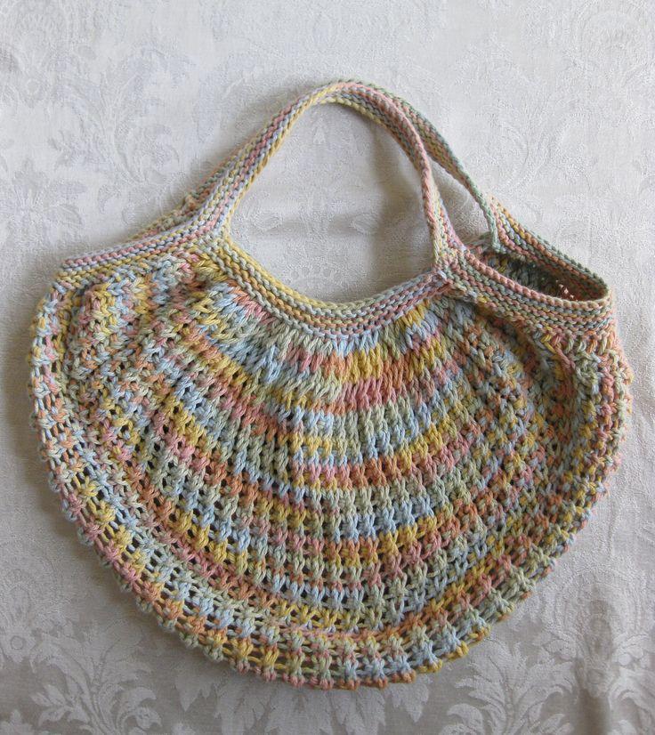 Knit Market Bag Pattern : Ravelry: Market Bag (Knit) pattern by Lily / Sugarn Cream ??????? Pi...