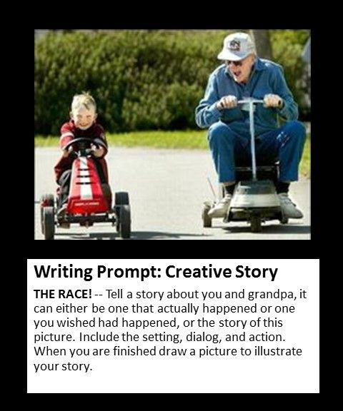 Creative story writing prompt