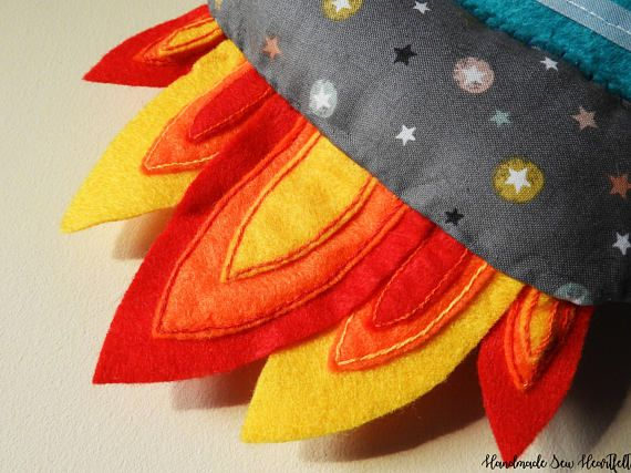 Felt Rocket Ship,Novelty Photo Frame,Childs Wall Hanging