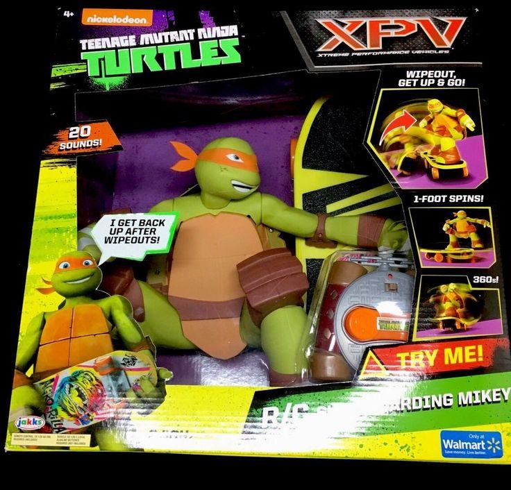 Teenage Mutant Ninja Turtles RC Skateboarding Mikey Remote Control TMNT NEW