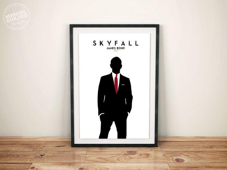 Skyfall James Bond - Minimalist movie poster - Poster minimalista - A4, A3 de ManuelGuajiroDesigns en Etsy