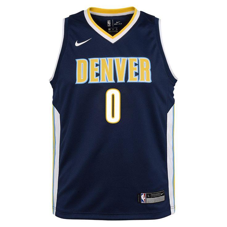 Emmanuel Mudiay Denver Nuggets Nike Icon Edition Swingman Big Kids' NBA Jersey Size Medium (Blue)