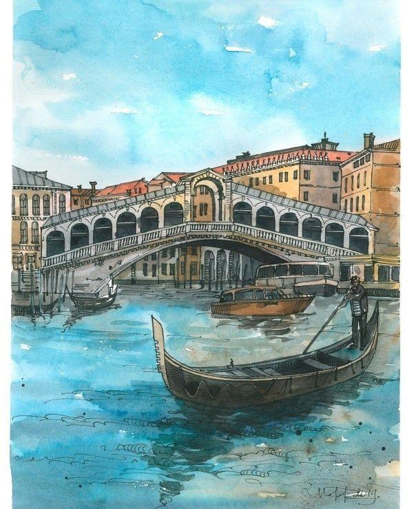 Венеция открытки, цветные картинки