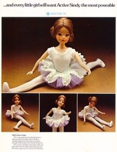 The first Active Sindy in 1974 didn't have bendy ankles.