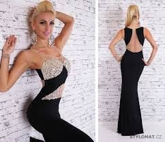 Výsledek obrázku pro plesové šaty černé