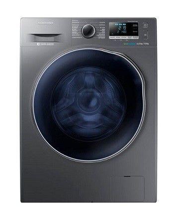 Lavasecadora de la marca Samsung cuenta con 11.5 kg de capacidad en lavadora y 7 Kg para la secadora, tiene 14 ciclos de lavado y tecnología Eco bubble / Speed Spray los cuales ayudarán a disol