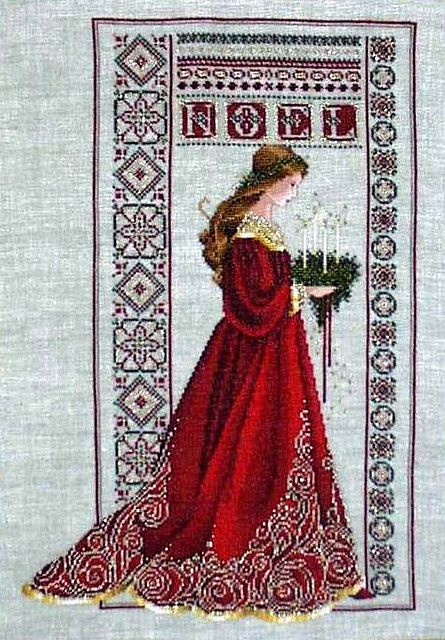 Celtic Christmas Cross Stitch by lilith penguin, via Flickr