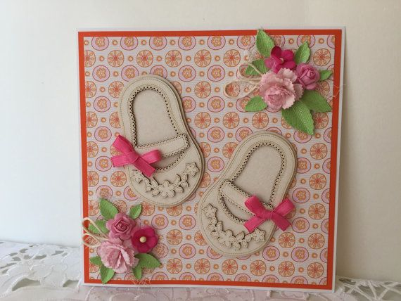 Handmade New Baby Baby Girl Congratulations New by scrapcards14