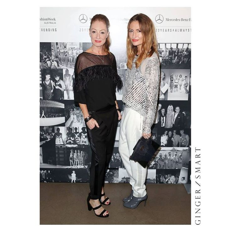 Alexandra Smart and Genevieve Smart at the Mercedes-Benz Fashion Week 20 years celebration.